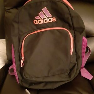 Black Adidas Backpack with Purple Pink and Orange